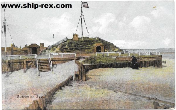 Sutton On Sea, Coastal Watch Station - old postcard
